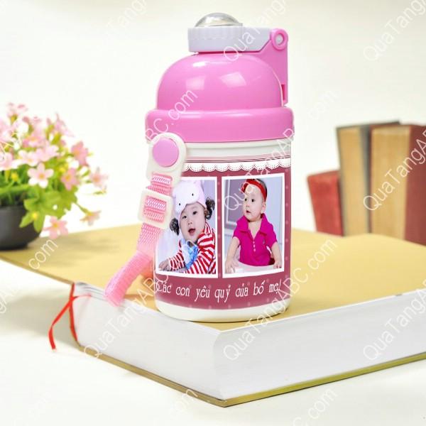 bình nước nhựa hồng